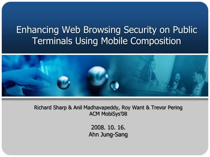 enhancing web browsing security on public terminals using mobile composition n.