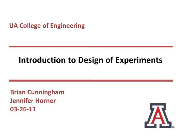 introduction to design of experiments pdf