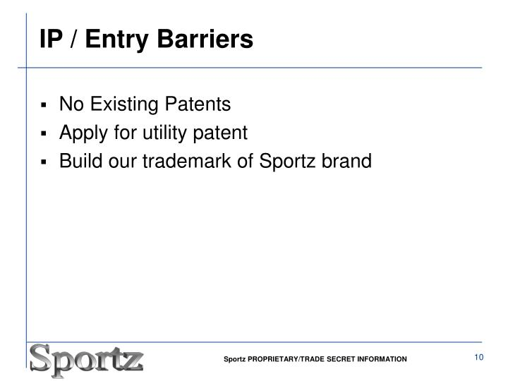 IP / Entry Barriers
