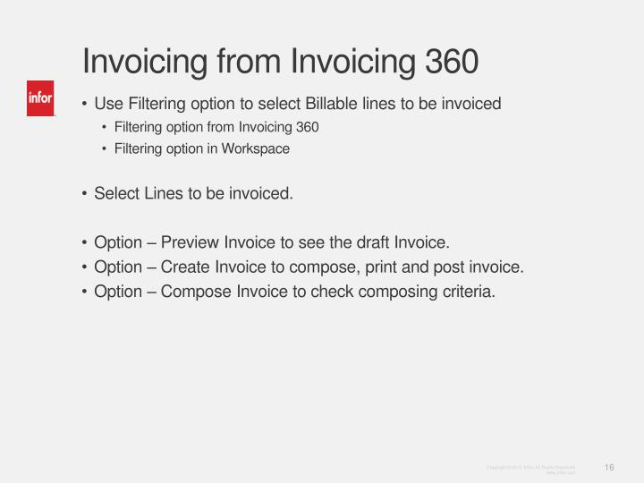 PPT Learn Infor LN Invoicing PowerPoint Presentation ID - Invoice 360