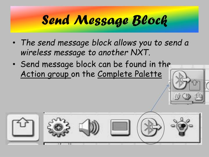 Send Message Block