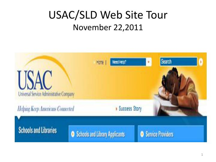 usac sld web site tour november 22 2011 n.