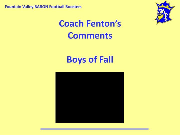 Coach Fenton's