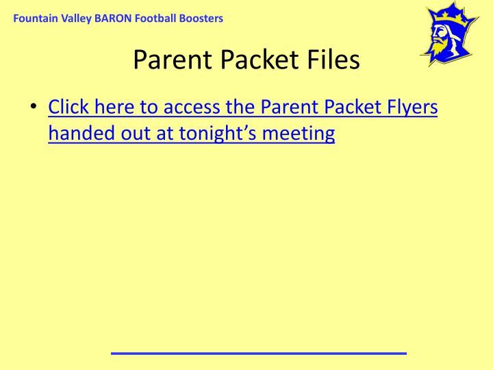Parent Packet Files