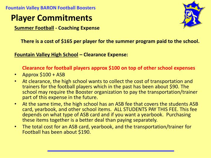Player Commitments