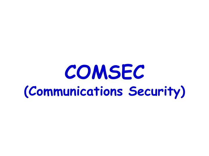 comsec communications security n.