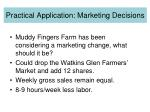 practical application marketing decisions1