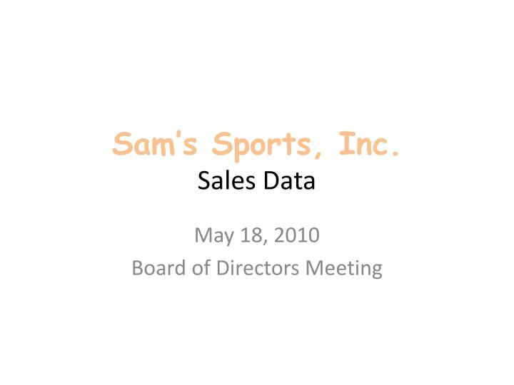 sam s sports inc sales data n.