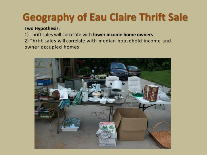 Geography of eau claire thrift sale