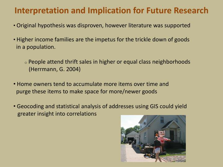Interpretation and Implication for Future Research