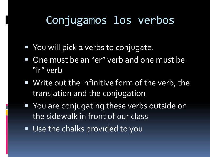 Conjugamos los verbos