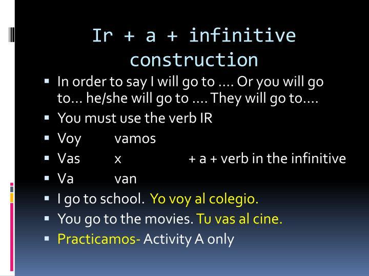Ir + a +