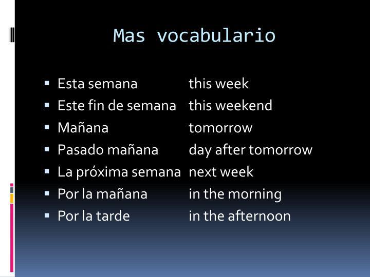 Mas vocabulario