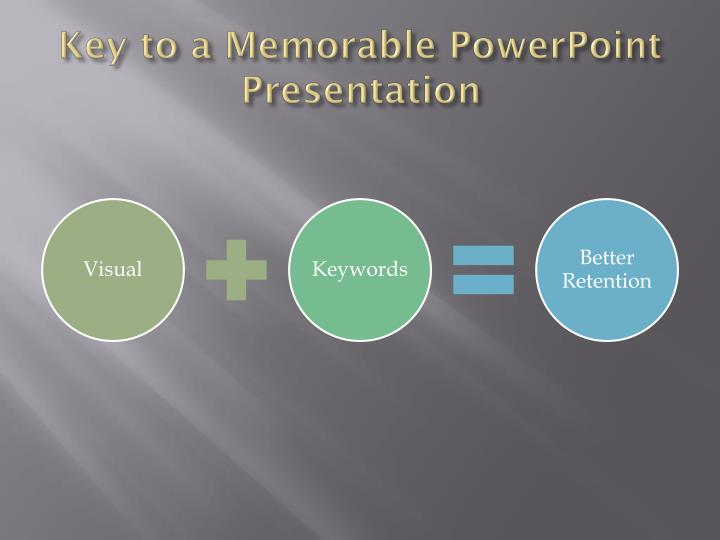 Key to a Memorable PowerPoint Presentation