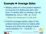 example average sales