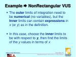 example nonrectangular vus1