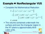 example nonrectangular vus5