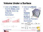 volume under a surface
