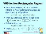 vus for nonrectangular region