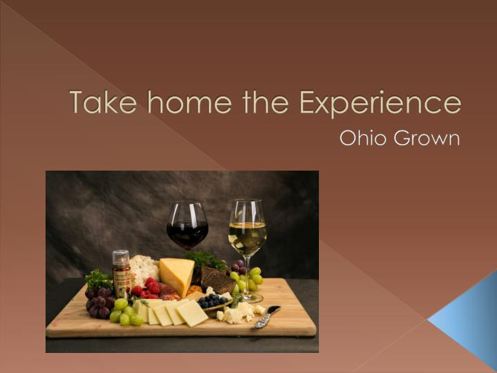 take home the experience n.