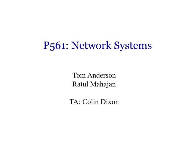 p561 network systems n.