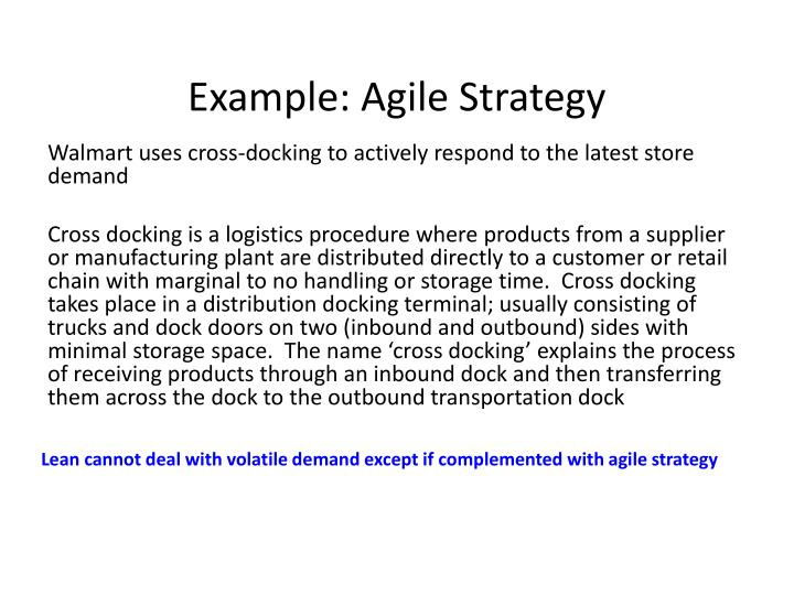 Example: Agile Strategy