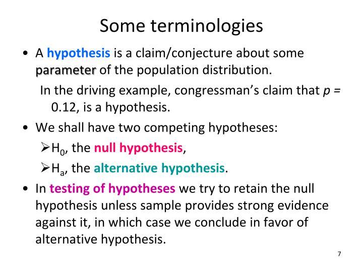 Some terminologies