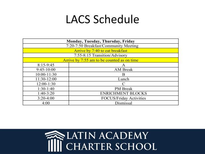 LACS Schedule