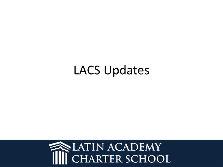 LACS Updates