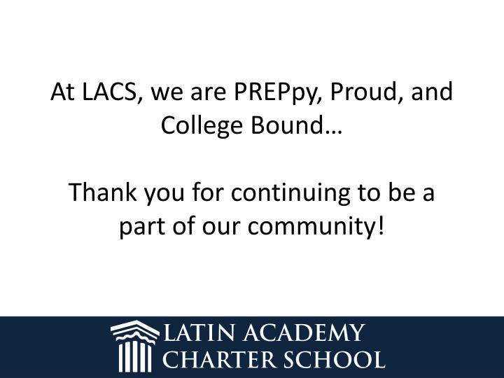 At LACS, we are