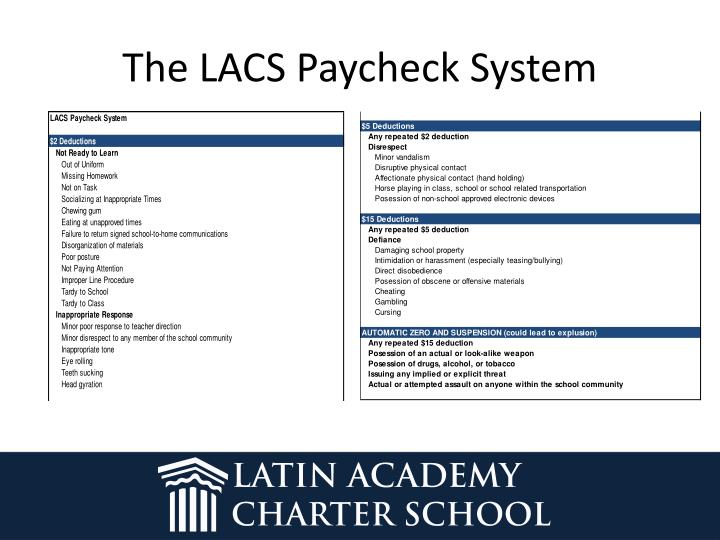The LACS Paycheck System
