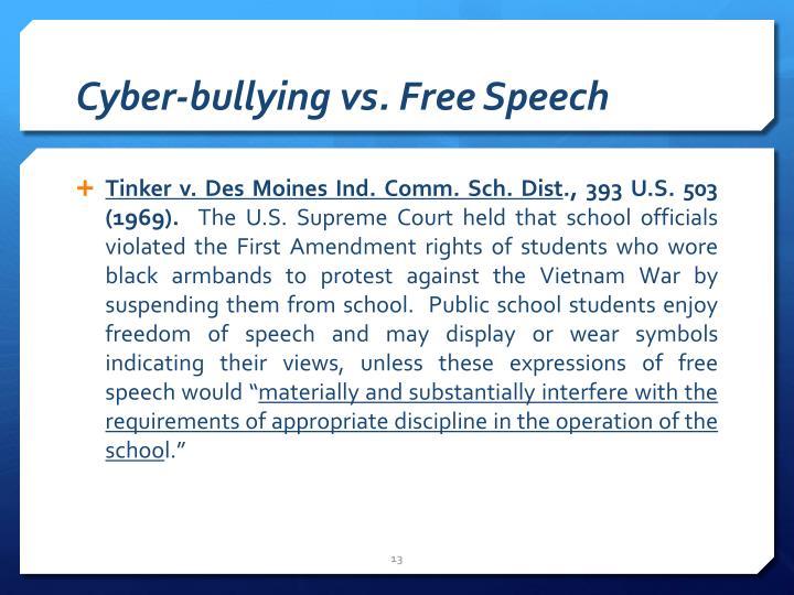 Cyber-bullying vs. Free Speech