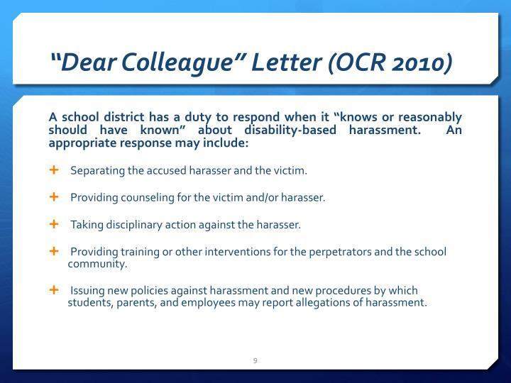 """Dear Colleague"" Letter (OCR 2010)"