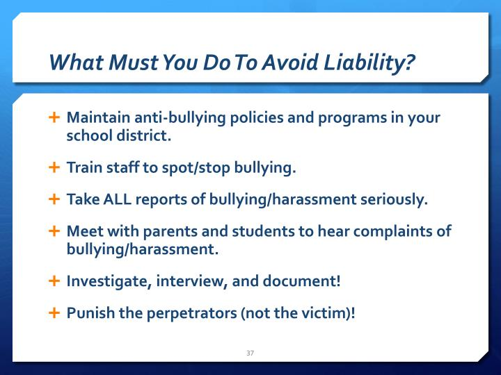What Must You Do To Avoid Liability?