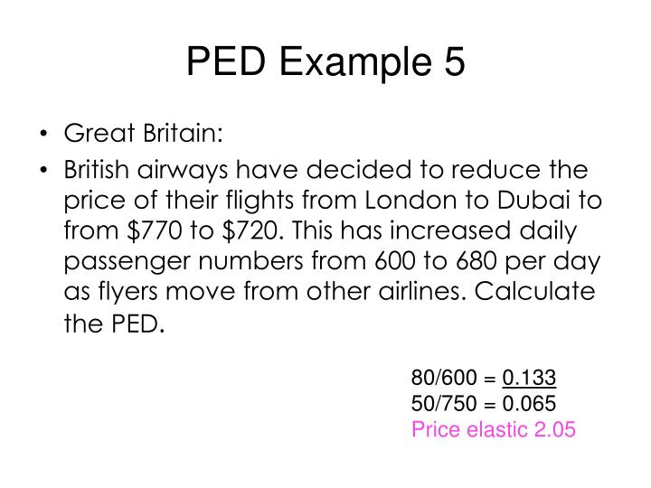 PED Example 5
