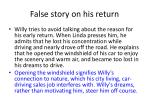 false story on his return
