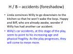 h b accidents foreshadow
