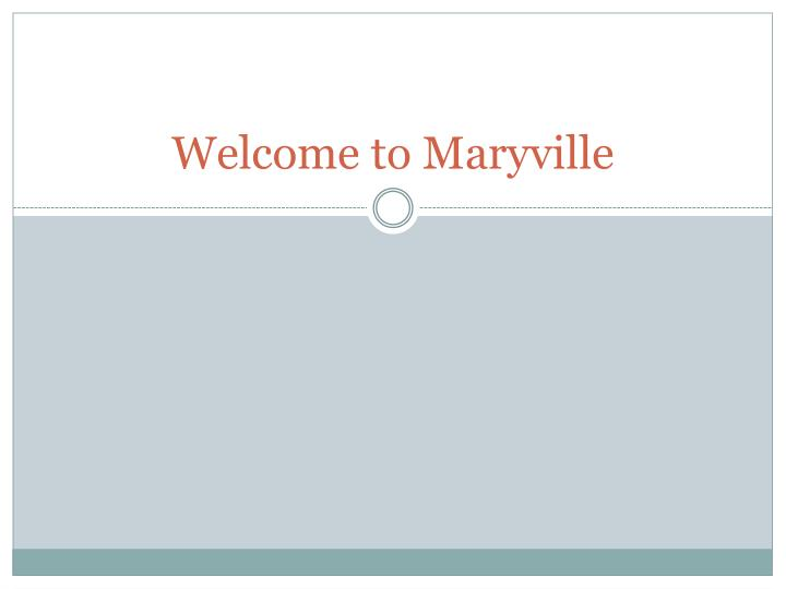 welcome to maryville n.