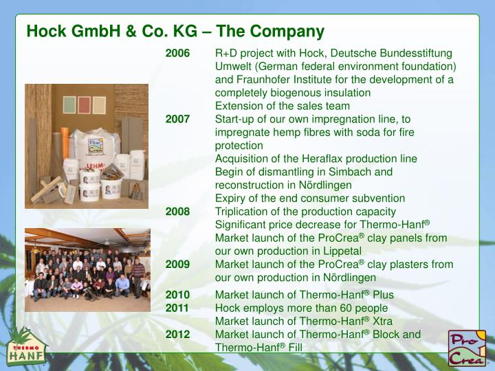 Hock GmbH & Co. KG – The Company