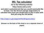 irs tax calculator