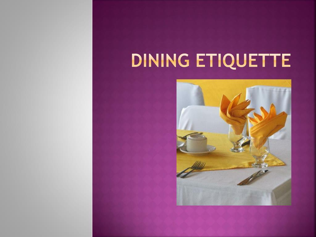 Ppt Dining Etiquette Point