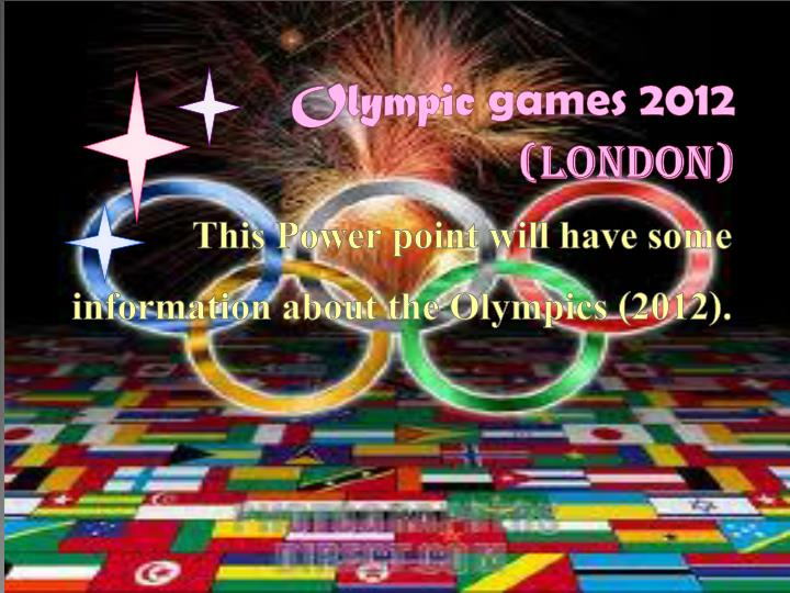 Olympic games 2012 london