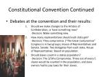 constitutional convention continued