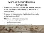 more on the constitutional convention