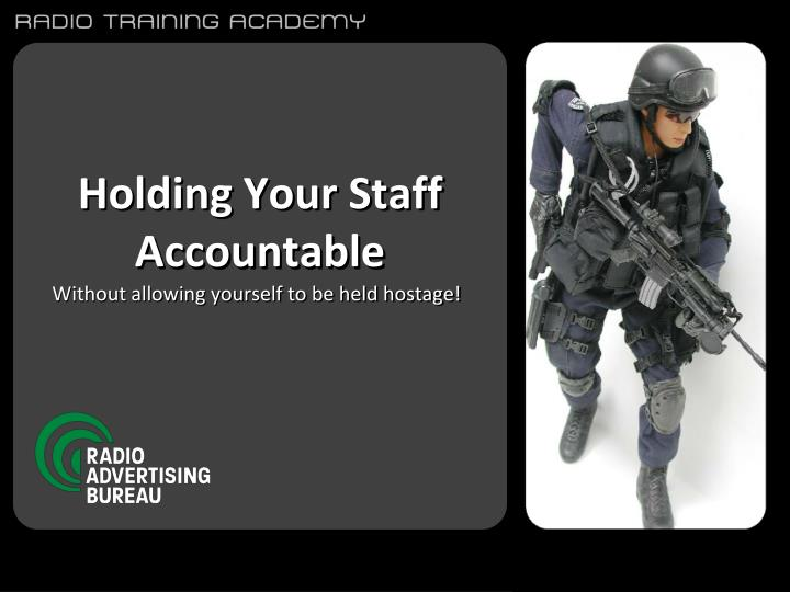 holding your staff accountable n.