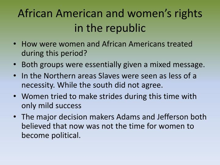 african american and women s rights in the republic n.