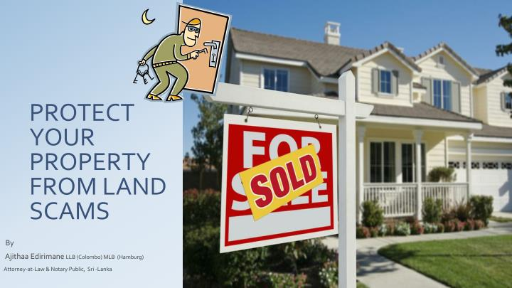 protect your property from land scams n.