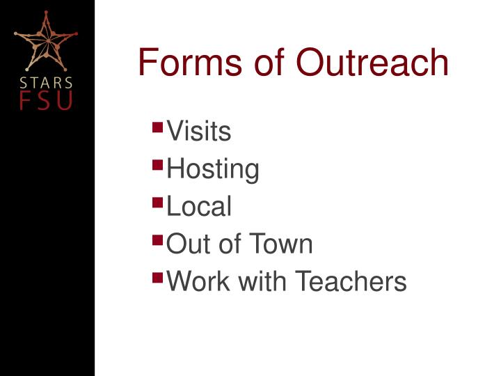 Forms of Outreach