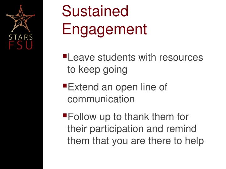 Sustained Engagement