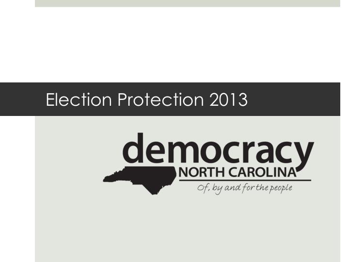 election protection 2013 n.
